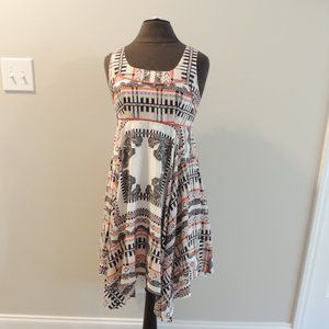 Jessica Simpson 6 Fit and Flare Dress Uneven Hem